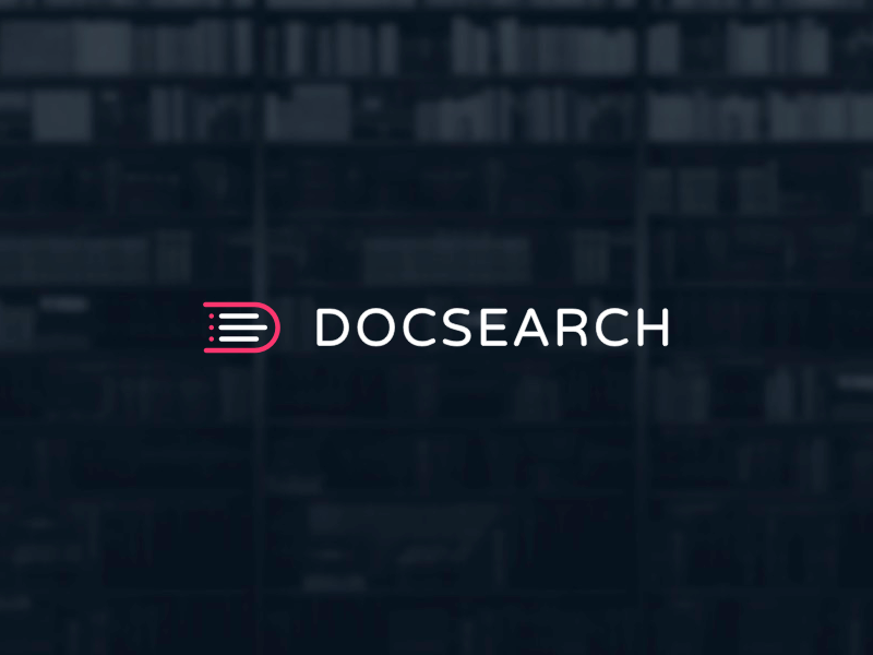 DocSearch Logo doc help help center faq branding logo search documentation docsearch