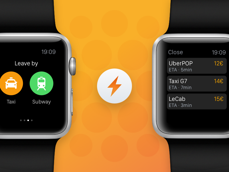 Snips for  WATCH context awarenes contextual information application watch apple ai snips