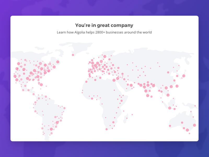 Algolia's community dataviz map