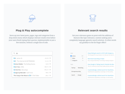 Search Features Illustrated