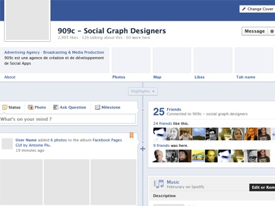 Facebook Pages GUI facebook pages gui psd ui interface freebie social grey blue