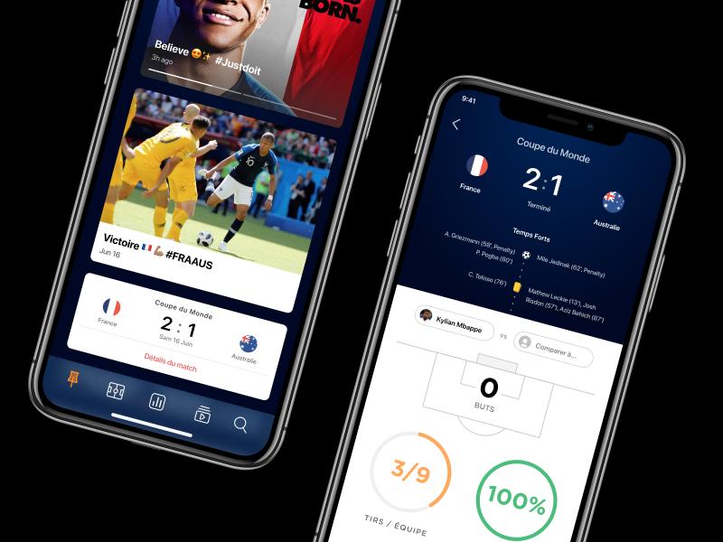 WIP - Soccer App feed player france app mobile soccer