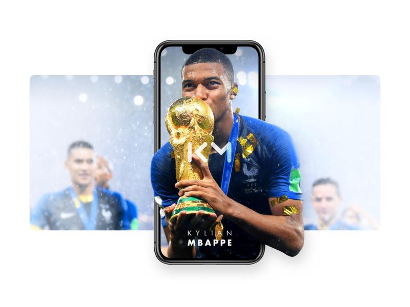 Key Visual Kylian Mbappé football kylian mbappe mbappe km key visual world cup champion france player soccer app mobile