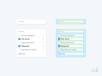 📐Card Spacing card guide dashboard white space 8pt 8pt grid spacing checkbox specs clean simple design ux ui