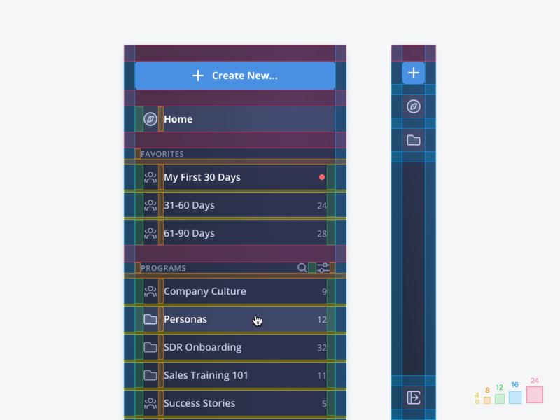 📐 Navigation Spacing measure component ruler collapse nav navigation white space specs spacing simple guide dashboard 8pt grid 8pt clean design ux ui