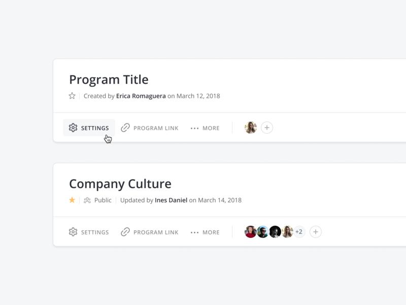 📇 Program Header tags collaboration design learning program component header dashboard minimal simple clean ux ui