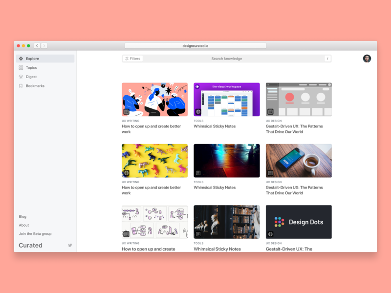 👀 Vision for the v1 of Curated