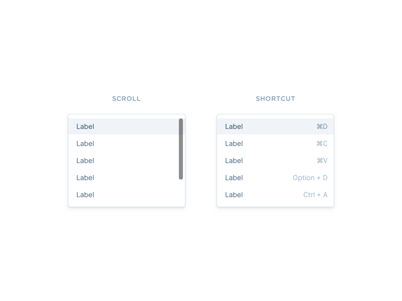 Dropdown States interface states dropdown component minimal simple clean design ux ui