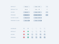 Filters States icons component app minimal dashboard simple clean design ux ui