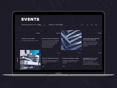 Hello Dribbble ! UX Design / EVENTS