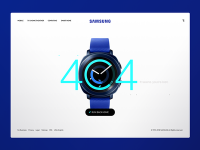 Daily_UI 08 of 100 uxdesign ux uidesign ui interface samsung help errorpage 404 day008 dailyui