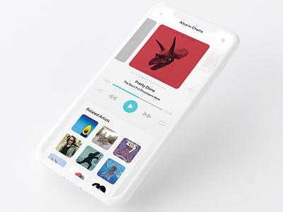 Daily_UI 09 of 100 uxdesign ux uidesign ui interface musicplayer app player music day009 dailyui