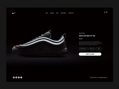 Daily_UI 12 of 100 dailyui uxdesign ux uidesign ui store singlepage product interface ecommerce airmax nike