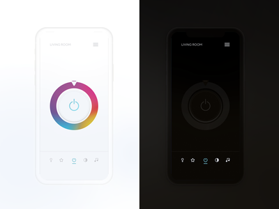 Daily_UI 15 of 100 uxdesign ux uidesign ui menu mobile product iot light app onoff switch day015 dailyui