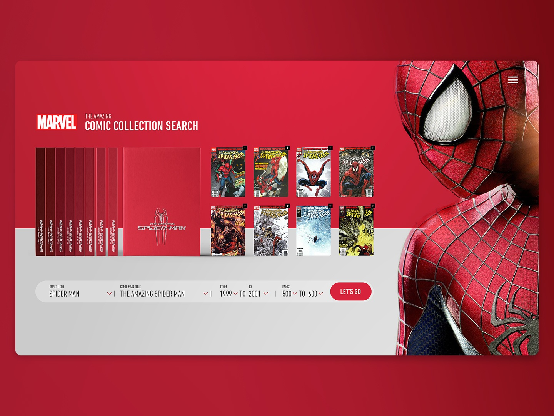 Daily_UI 22 of 100 uxdesign ux uidesign ui onepage search landing desktop clean website web trend superhero marvel home comic art direction day022 dailyui