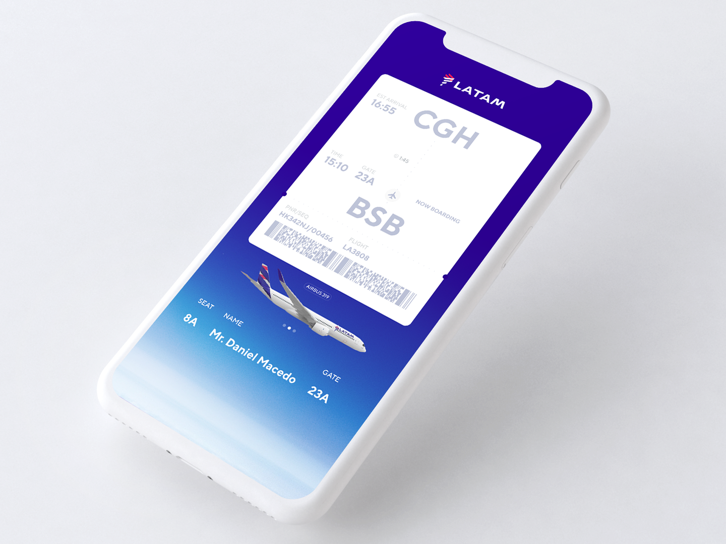 Daily_UI 24 of 100 web uxdesign ux uidesign ui trend latam onepage ticket airplane onboarding mobsite boardingpass mobile clean app day024 dailyui