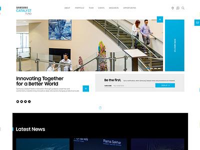 Samsung Catalyst Fund uxdesign ux samsung clean uidesign ui