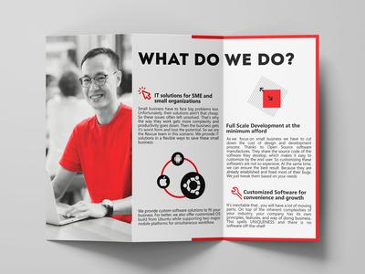 Tri-fold Brochure infograph clean minimal branding corporate identity print design branding brochure flyer