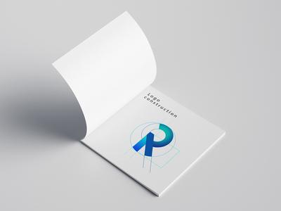 Logo construction grid corporate identity flyer brochure print design logo branding