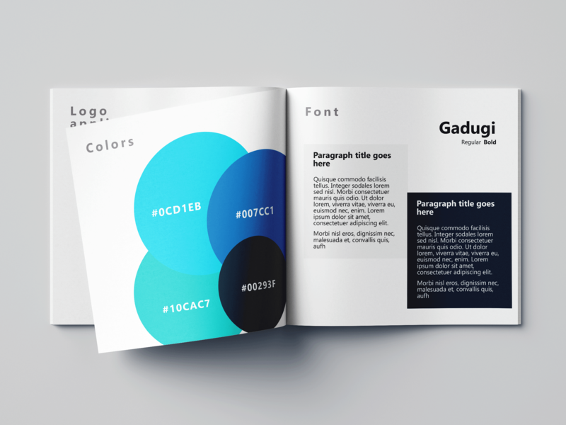 Color and typography infograph brochure branding print design flyer corporate identity typography design style guide branding guidelines brand color guide