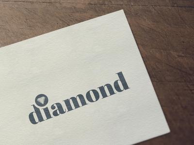 Diamond stone gem jwellery branding logo