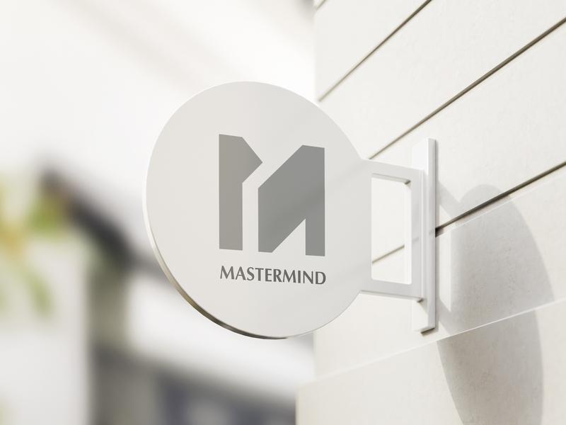 Mastermind pictorial mark pictorial marketing agency minimalist logo lettermark monogram letter m logo emblem letter mark event management logo logo mark logotype event management letter logo corporate identity logo