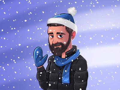 Selfportrait - winter version