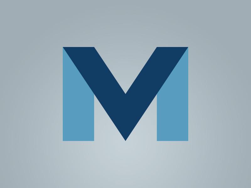 MV Logo branding typography logo