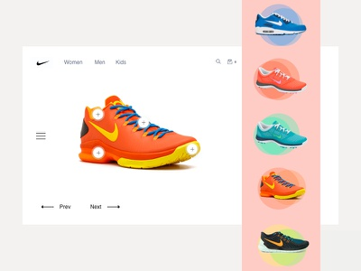 Snickers Shop - UI Concept ecommerce app nike air ux-ui branding concept white interaction design clean app nike