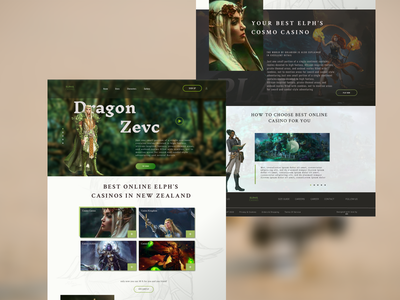 Dragon game crypto landing page background ui concept design webdesign gaming