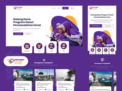 Patungan Bareng - Charity Platform patungan purple campaign crowdfunding funding charity web ui