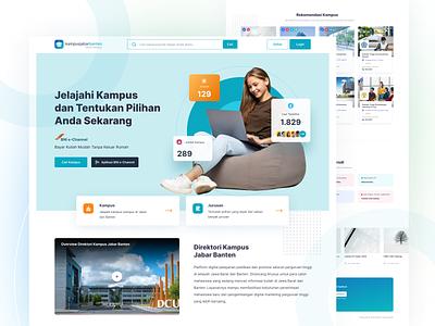 Kampus Jabar Banten Revamp banten west java major online registration graduate student university landing page directory campus tosca clean website ui
