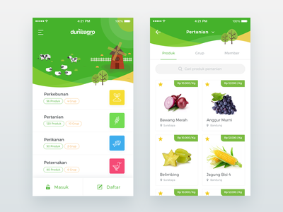 Duniaagro IOS App Concept