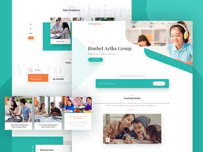 Bimbel Artha Website Concept