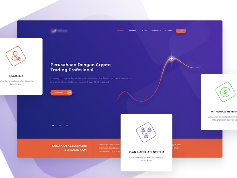 Cryto Trading - Landing Page