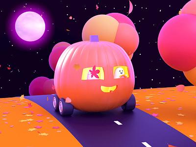 Halloween Foliage Cruise halloween foliage animation 3d illustration