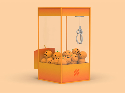 Ghost Game 3d animation illustration