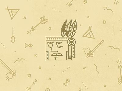 Yeha Noha indian line icon arrow axe dots feather