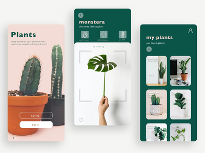 New Plant Mobile App dailyuichallenge dailyui mobile application mobile ui branding mobile greenery plants app plants mobile app design app design user interface user experience mobile design mobile app app ux ui design