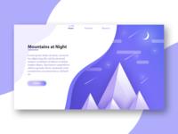 Mountains Website Banner