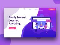 Online Education Website Banner