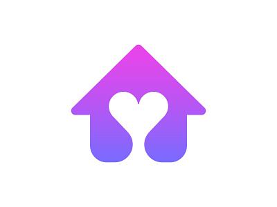 House + Heart positive love family clinic veterinary vet dog pet sweet home house heart vector branding design symbol martsvaladze anano logo mark