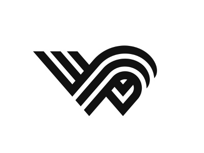 Letter W branding design symbol martsvaladze anano motion logo lines wave mark letter flow