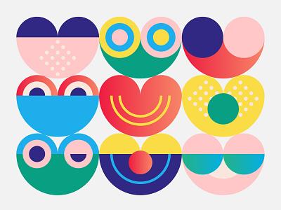 Positive Vibes vector design illustration martsvaladze anano love cute smile heart positive
