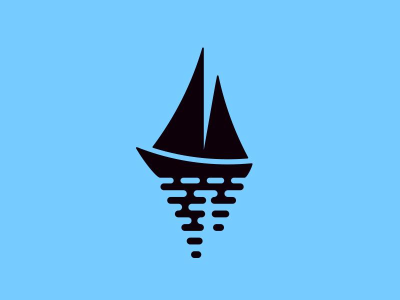 Sailboat sailboat sail boat sea wave logo reflection mark martsvaladze anano