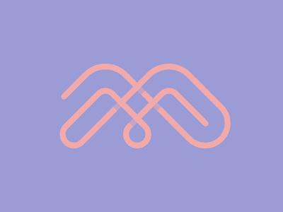 Letter M + Mountains + Drop letter m letter m branding design symbol martsvaladze anano logo mark lines water drop mountain