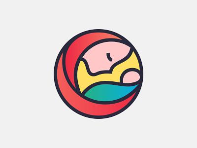 Maternity symbol illustration design branding symbol martsvaladze anano logo mark baby mother