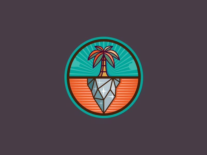 Palm Tree logo palm tree ice circle summer winter mark martsvaladze anano