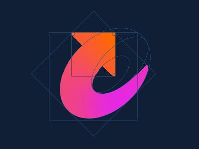 Letter U / Arrow - Logo Grid logos symbols marks modern logos modern logo smart logo simple logos simple logo brand identity minimalistic logo arrow letter u letter u vector branding symbol logo mark grid