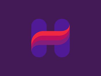 Letter H logos brand identity logo designs marks symbols flow moton wave letter h letter h vector branding design symbol martsvaladze anano logo mark